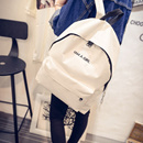 Fashionable New Letter Canvas Backpack for Girl Travel Backpack Couple Backpack