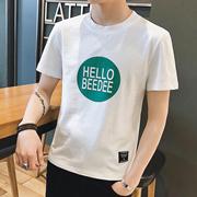 CHRIS 2018新款男士夏季圆领短袖t恤上衣服潮流半截袖体恤学生夏天韩版