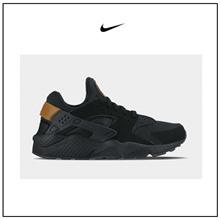 【韩国直邮】Nike Air Huarache 男款运动休闲鞋 |经典复古跑步鞋 |黑色+金色|100%正品|货号318429-025|[Kconcept]