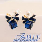 可爱的丝带石耳环