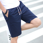 夏季男士大码运动纯棉休闲裤中裤沙滩裤五分裤短裤