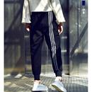 K2705 韩版拼条设计百搭显瘦松紧腰舒适运动休闲女裤潮流2019秋米可可