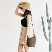 【韩国直购】 ★rorococo★休闲编织袋|夏季日常口袋|编织单肩包|绳索编织袋|