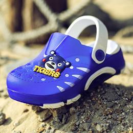 上匠风华 2017夏款 PVC EVA 一体成型 儿童 中童童 男童女童 凉拖鞋 HY809  注意参考内长