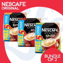 [NESTLE]【FREE 5 STICKS!】NESCAFÉ®35Sticks +免费5S [原创/减少25%糖/零糖]