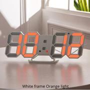 智能3d数字钟闹钟 数字挂墙钟LED电子礼品闹钟大款时钟温度钟