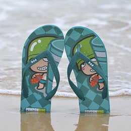 夏款 情侣款人字拖 原创卡通设计 经典品质 人字拖鞋