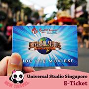 【New Travel】Universal Studio Singapore Ticket USS One day Pass + S$5 Meal Voucher E-Ticket 新加坡环球影城电子