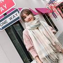 格子围巾女冬季英伦经典日韩版两用百搭原宿学生加厚仿羊绒披肩