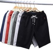 [5PCS]2020纯棉短裤男夏季时尚5分青年宽松沙滩裤休闲100%全棉短裤男