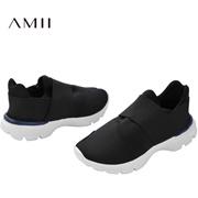 Amii[极简主义]春新百搭轻便透气一脚蹬运动休闲鞋11632509
