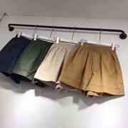 棉麻短裤女夏2018韩版宽松百搭高腰A字阔腿短裤大码胖mm显瘦热裤