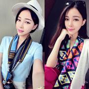 【热卖】春秋季小丝巾女| 韩版新款|围巾|职业|商务|韩国领巾|时尚装饰百搭