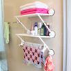 强力吸盘卫生间置物架壁挂 双层双杆吸壁浴室收纳架 卫浴毛巾架