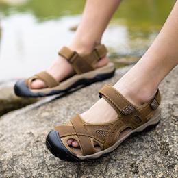 上匠风华 2017夏款  网布橡胶底 情侣款 时尚运动休闲 大码小码 沙滩凉鞋 2618 标准皮鞋鞋尺码