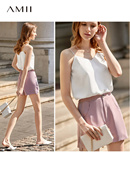 Amii is extremely simple and handsome European and American fashion goods garter vest female 2019 su