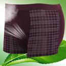竹纤维舒适平角男内裤M9011单品 中腰平脚裤 轻薄 均码(适合S-M)