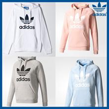 【韩国直邮】Adidas 男女款三叶草的连帽衫| 休闲舒适运动款|4色可选||100%正品|货号|3款可选|[Kconcept]