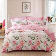 水星家纺磨毛加厚保暖四件套 百卉含英 冬季被套床上用品