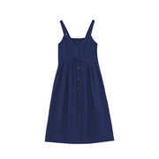 SPAO夏季款休闲时尚宽松中长款女式纯色连衣裙SPOW725G17
