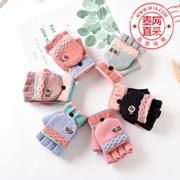 冬季韩版可爱女士毛线手套学生加厚保暖手套