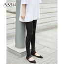 【特价】Amii[极简主义]2017夏休闲弹力显瘦打底踩脚裤 11762187