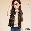 韩国童装蓝角兽WIZMON 女童打底衫套头T恤拉花领口T恤正品现货WMBT3081