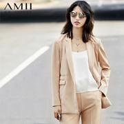 【双12秒杀】Amii[极简主义]新品时尚A型修身显瘦西装套装女11761197