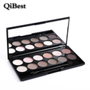 QiBest 12 Color Eyeshadow Naked Palette Long Lasting Nude Sombra Eye Shadow Shimmer Glitter
