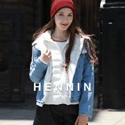 【HENNIN】女士超轻量羽绒服 鸭绒服 冬季新款 轻盈|温暖|简约|大方|基本款|内穿|外搭|象牙白|浅粉色|浅绿色|浅蓝色|黑色|5色可选|bactory|100%专柜正品 HEJD749W01