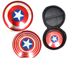 Captain HAND SPINNER Fidget Cube EDC Fidget Spinner玩具儿童金属旋转礼物压力案例博