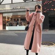 2019新款外套呢子设计感秋冬羊绒毛呢大衣