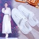 小白鞋女网纱透气夏季鞋子2018新款韩版百搭镂空白鞋学生春季板鞋