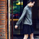 R1355 文艺百搭保暖两色半高领秋季打底上衣短款卫衣2019新款女米可可