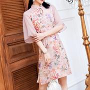 新式旗袍年轻2019新款中国风改良版夏季短款仙女裙19292