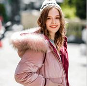 2018冬季新款女装加厚长款连帽休闲外套大毛领羽绒服
