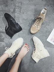 马丁靴女英伦风短筒学生2018新款韩版百搭复古机车时尚chic短靴子