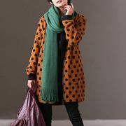 米可可  W3397B 通勤韩版宽松百搭显瘦加绒棒球服中长款外套女冬