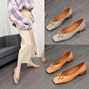 六款可选  2018春款 PU皮2cm跟高平底女子休闲OL办公室必备神器  气质单鞋188-189