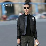 Amii[极简主义]2016秋冬女装立领修身大码加厚外套羽绒服11632610
